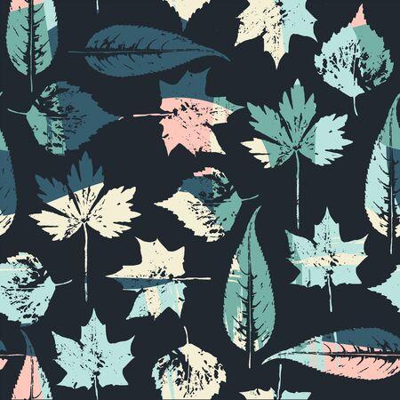 Abstraktes nahtloses Muster mit Blättern