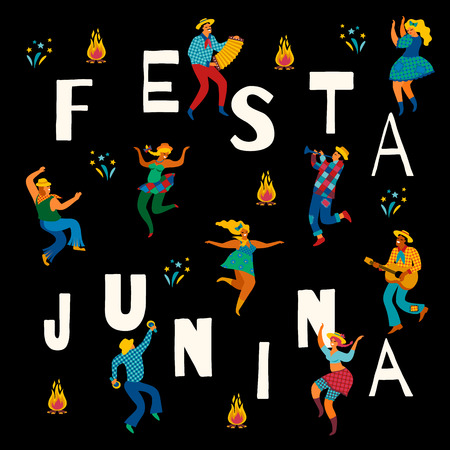 Festa Junina. Vector template. 일러스트