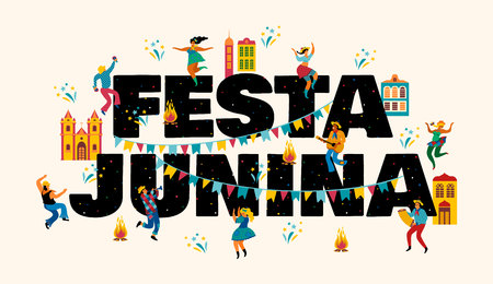 Festa Junina. Vector templates for banner.