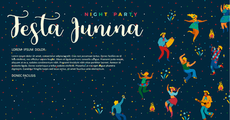 Festa Junina. Vector templates for Latin American holiday, the June party of Brazil. Design for banner and over use.