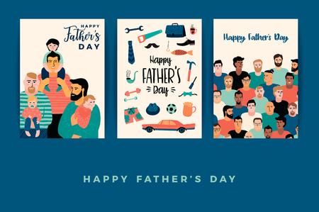 幸せな父親の日。ベクター テンプレート。 写真素材 - 102763101
