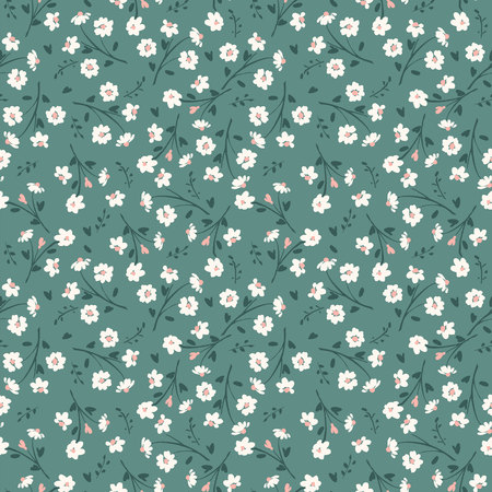 Floral abstract seamless pattern. Vector design for paper, cover, fabric, interior decor and other users Ilustracja