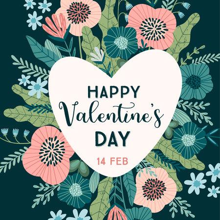 Floral design concept for Valentines Day and other users. Flower illustration. Ilustração