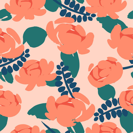 Floral seamless pattern. Vector design for paper, cover, fabric, interior decor and other users
