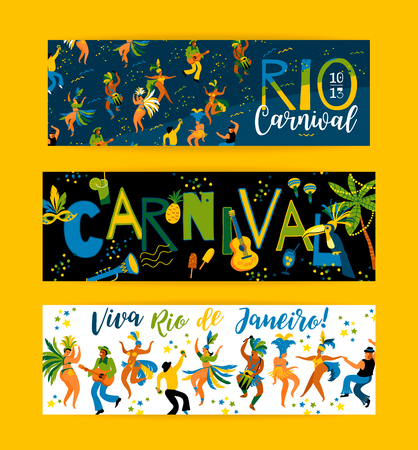 Brazil carnival. Vector templates for carnival concept and other users. Design element. 向量圖像