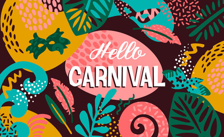 Brazil carnival. Vector illustration with trendy abstract elements. Poster design for carnival concept and other users