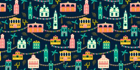 Latin American holiday, the June party of Brazil. Ilustração