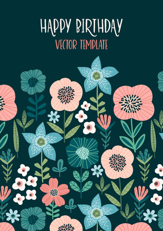 floral design with cute flowers. 版權商用圖片 - 127649736