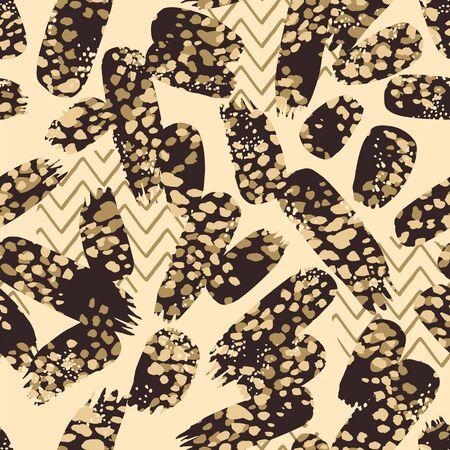 Abstrct animal print. Vector seamless background. Design template Archivio Fotografico - 134466321