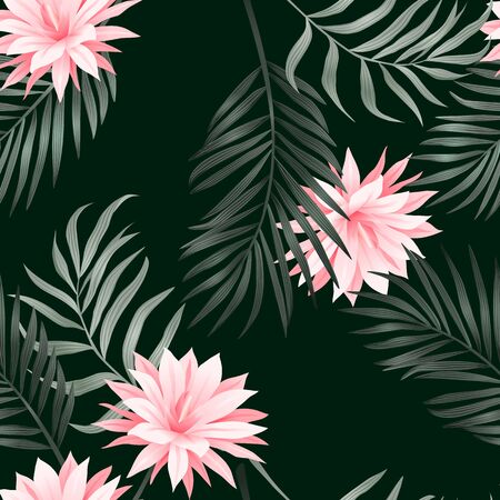 Tropical seamless pattern. Modern abstract design for paper, cover, fabric, interior decor Stock Photo