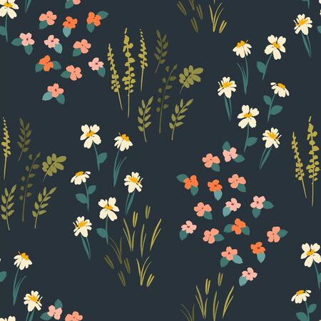 Floral abstract seamless pattern. Vector design for different surfases. Ilustracja