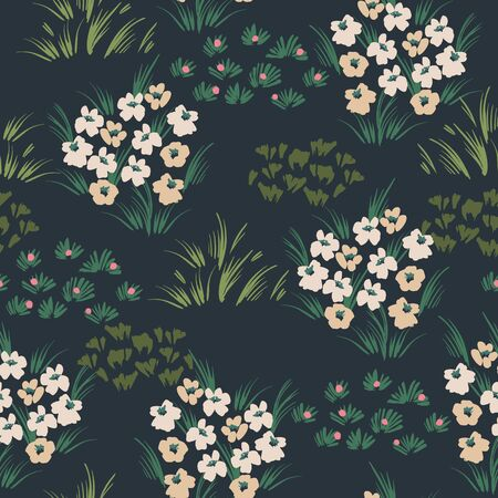 Floral abstract seamless pattern. Vector design for different surfases. Illustration
