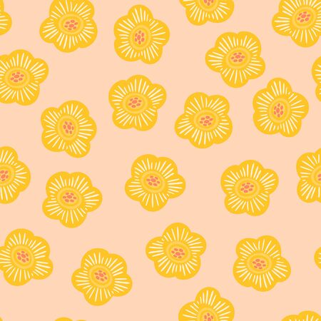 Folk floral seamless pattern. Modern abstract design for paper, cover, fabric, pacing and other users Illustration