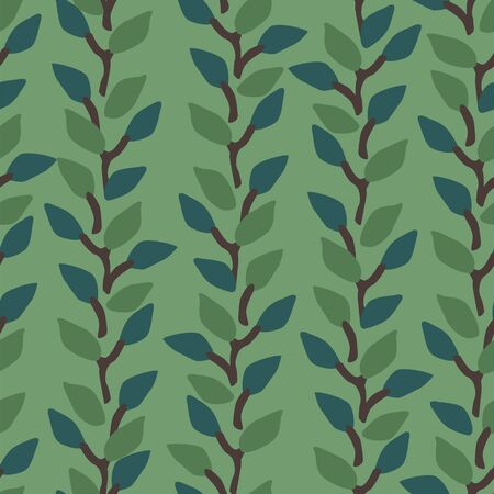 Artistic seamless pattern with abstract leaves. Modern design Illustration