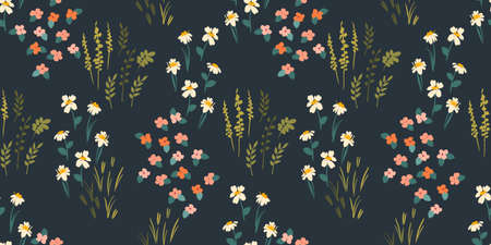 Floral seamless pattern. Vector design for paper, cover, fabric, interior decor and other Ilustração