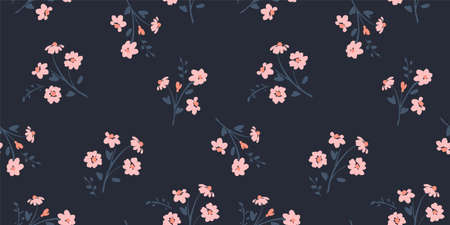 Floral seamless pattern. Vector design for paper, cover, fabric, interior decor and other. Ilustração
