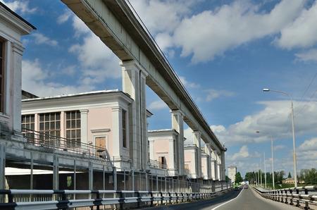 hydroelectric station: Uglich Volga idroelettrica Stazione Russia. Editoriali