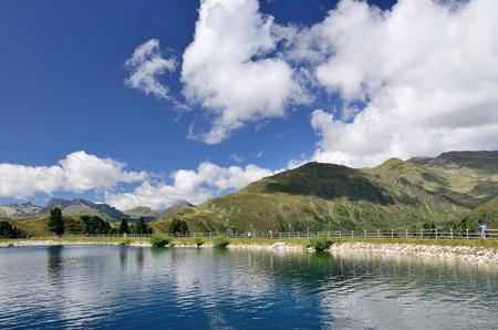 Lake in the mountain. photo