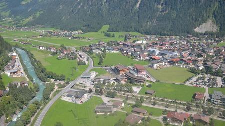 arial view: Mayrhofen, Austria  - arial view.