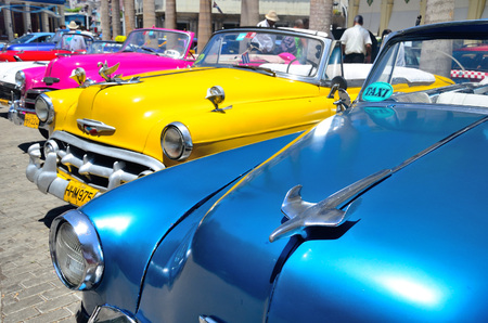 havana: Retro cars in Havana. Editorial