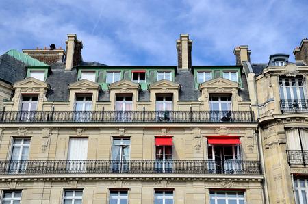 entresol: Facade in a building in Paris Stock Photo