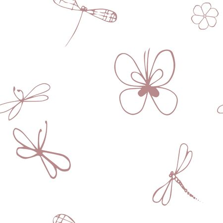 tender butterflies and dragonfly repiat pattern circuit
