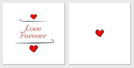 Postcard love forever template saint Valentine day Vettoriali