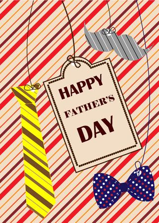 Fathers Day congratulation card. Vector illustration Illustration