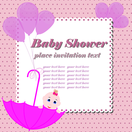 Baby Shower Banner Cute Girl Holding The Sign For Writing Design – Designing an Invitation Card