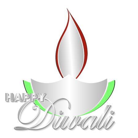 Happy Diwali vector kunst illustratie. Ontwerp van wenskaart, banner, flyer, cadeaubon, uitnodiging, achtergrond voor Divali, festival van lichten. Papier gesneden stijl. Stockfoto - 85780742