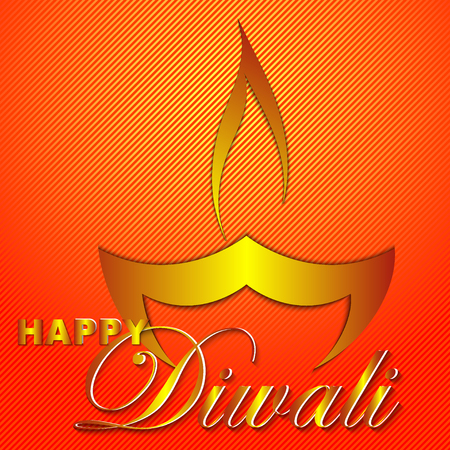 Happy Diwali vector art illustration. Design of greeting card, banner, flyer, gift certificate, invitation, background for Divali, festival of lights. Paper cut style.
