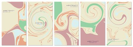 Vector set of social media stories, design templates, backgrounds with copy space for text. Trend shape for banner, greeting card, poster, advertising, discount banner. Every background is isolated.