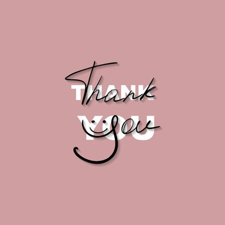 Handmade inscription Thank you. Thank you message. Vector illustration design for t-shirt graphics, fashion prints, slogan tees, stickers, cards, posters and other creative uses.
