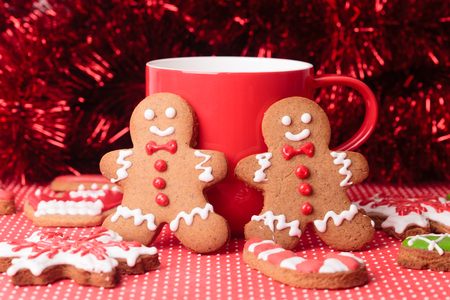 gingerbread cookies: christmas homemade gingerbread cookies, new year concept