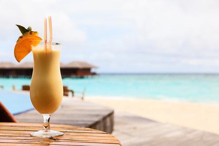 colada: pina colada on luxury topical beach resort