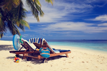 two chairs: Two chairs on the tropical sand beach