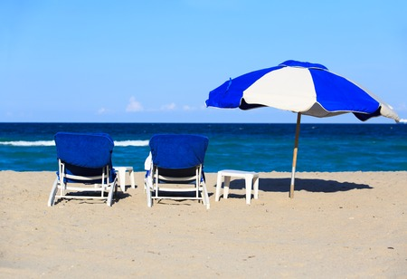 two chairs: Two chairs on sand beach, vacation concept