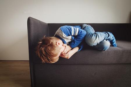 crying child, stress and depression Stock Photo