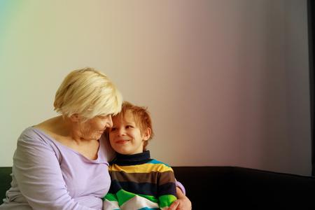 happy loving grandmother with grandson Stok Fotoğraf