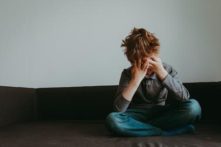 stressed child, despair and depression
