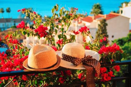 hats on vacation at sea