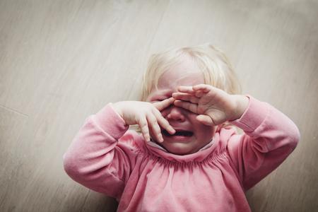 sad crying child, pain, stress, depression, negative emotions