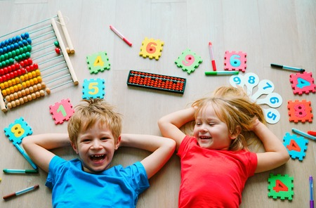 kids learning numbers, arithmetic, abacus calculation, education