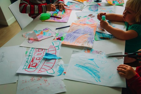 kids drawing, education, learning, arts and crafts class