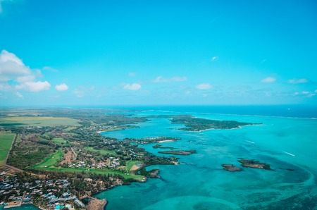 Aerial view of Mauritius, tropical paradise, travel concept Stockfoto