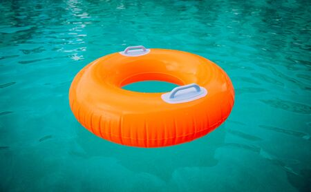 kids floatie in the pool, water safety and summer fun Imagens