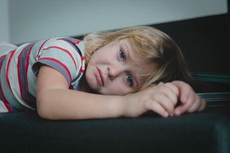 sad crying child, kid in pain, stress