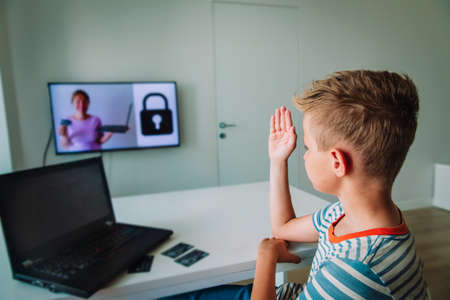 Teaching kid online security before paying online, safety on internet, cyber security