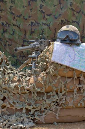 sandbag: machine gun