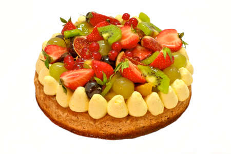 strawberry cake: fruit cake Stock Photo